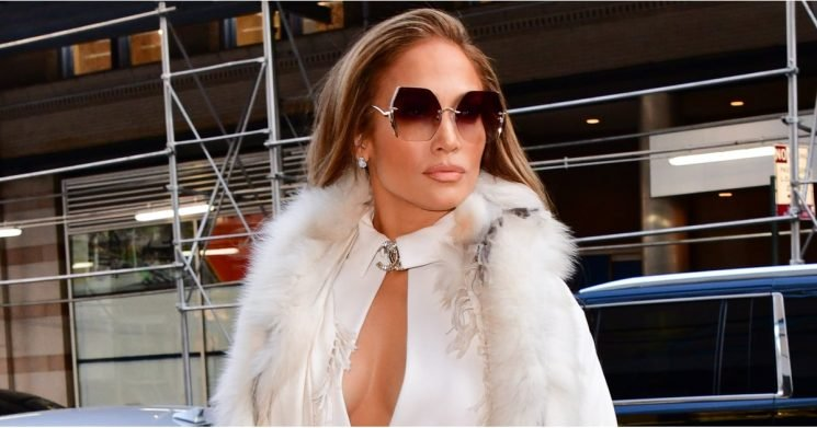 Jennifer Lopez Is a Walking Winter Wonderland in This Sexy All-White Outfit