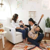 Musician Michael Franti Shows Off Newborn Son Taj's 'Fair Trade' Nursery