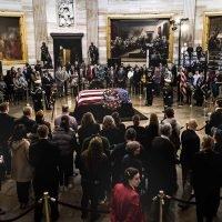 World's dignitaries bid farewell to George H.W. Bush