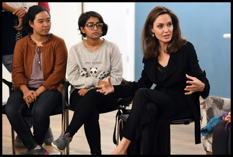 Angelina Jolie speaks to her daughters *and* her sons about sexual violence