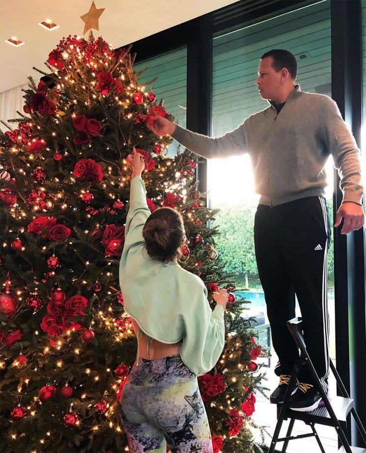 J-Rod Christmas! Jennifer Lopez & Alex Rodriguez Trim Their Tree with Sweet Help from Their Kids
