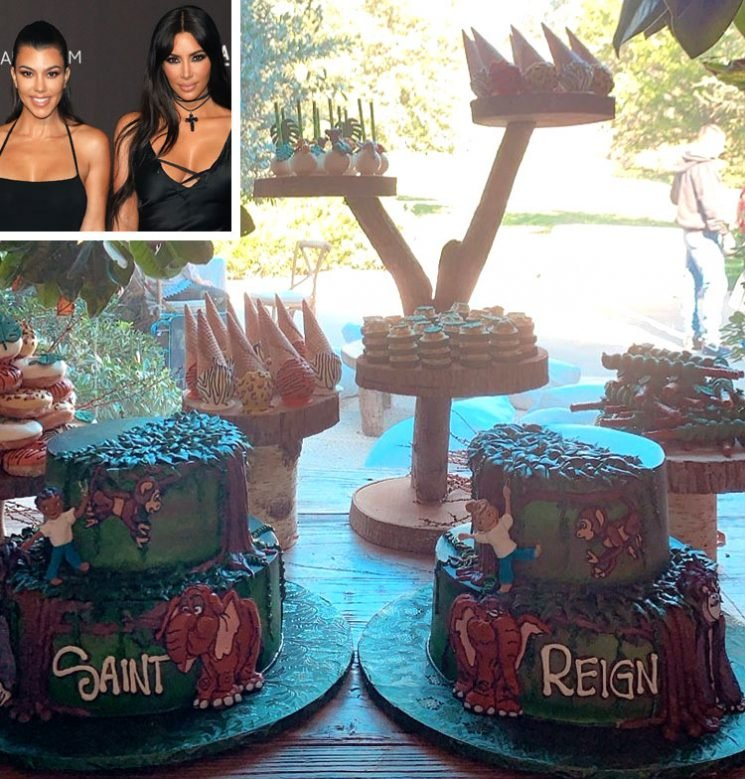 Saint and Reign Celebrate December Birthdays with Tarzan-Themed Bash & Custom 'Merch Shirts'