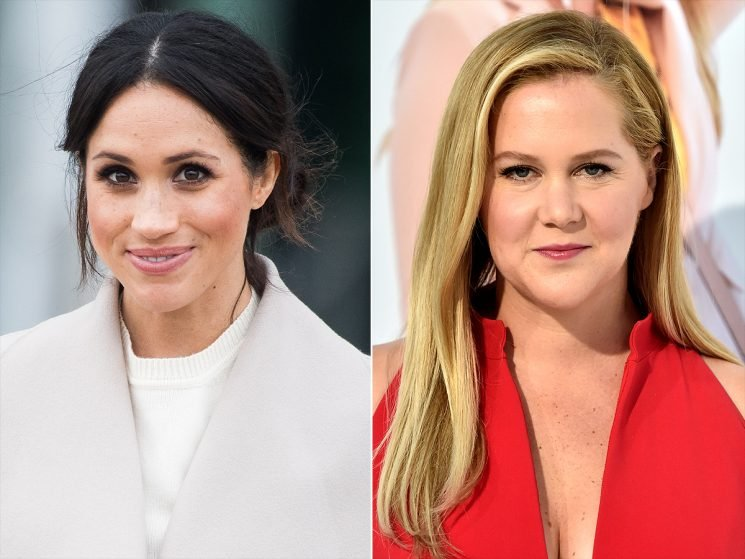 Amy Schumer Claims Meghan Markle is Her Nemesis Because They're Pregnant at the Same Time