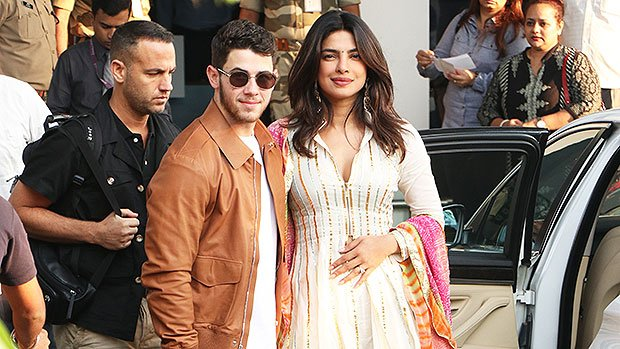 Nick Jonas Protectively Wraps His Arm Around Priyanka Chopra As They Arrive In Jodhpur For Wedding