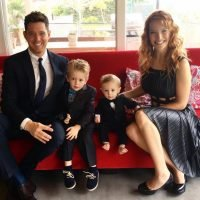 When was Michael Buble and Luisana Lopilato's baby born, what is her name and who are their other children?