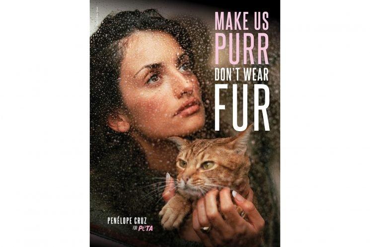 Penélope Cruz Teams Up with PETA Again to Urge the World to Go Fur-Free