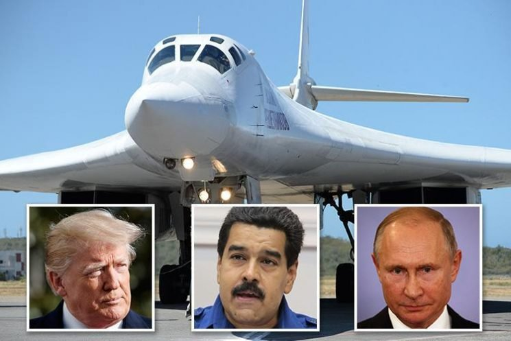 Russia lands two NUKE bombers in Venezuela in chilling show of strength to Trump as US blasts move by 'two corrupt governments'
