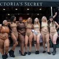 Women Strip Down to Their Underwear to Protest Lack of Inclusion Outside Victoria's Secret Store in London
