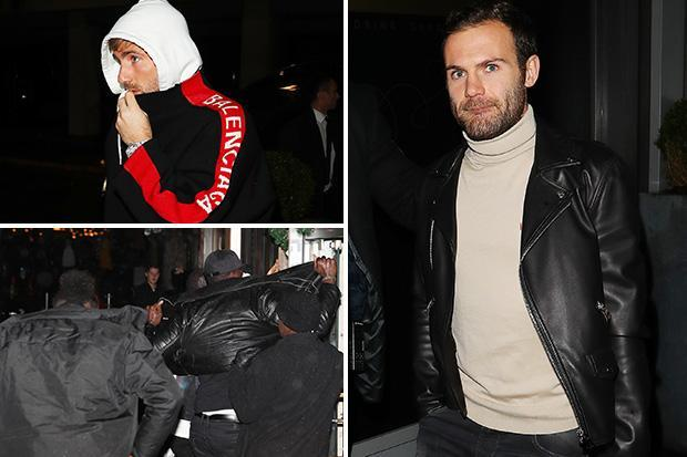 Paul Pogba covered up by security as Man Utd stars enjoy Christmas party