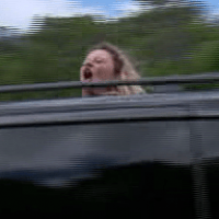 I'm A Celebrity's Emily Atack shouts 'bus w***ers' at van in hilarious Inbetweeners tribute