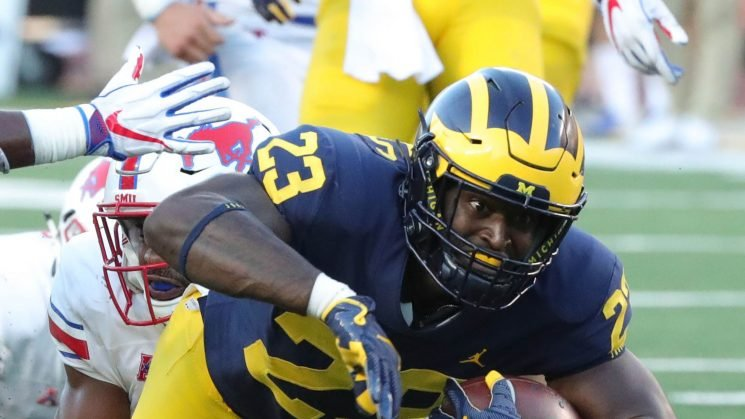 Michigan dismisses running back O'Maury Samuels, who is charged with domestic violence