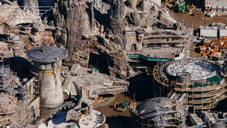 New at Disneyland: Drone video of Star Wars: Galaxy's Edge