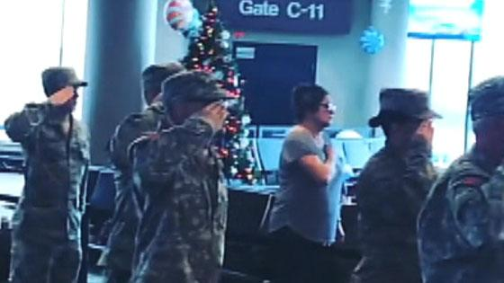 Nashville airport travelers stop to sing national anthem for children of fallen service members, viral video shows