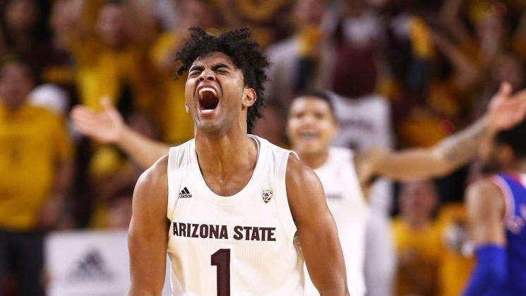 Arizona State takes late lead, stuns No. 1 Kansas