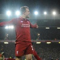 Shaqiri's Two Goals Lift Liverpool Past Manchester United