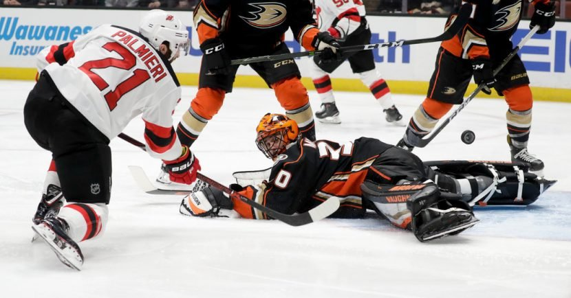 Devils Score 5 Goals. They Also Score 3 for the Ducks.