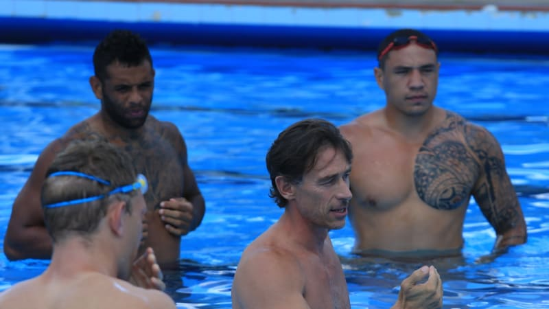Wrestling under water Fittler's latest trick for NSW Origin side