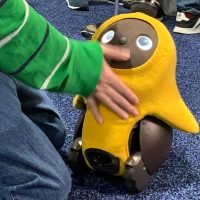 Adorable robot investigates your home and finds people it likes for cuddles