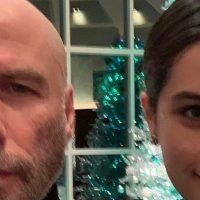 John Travolta shows off his bald head in selfie with daughter