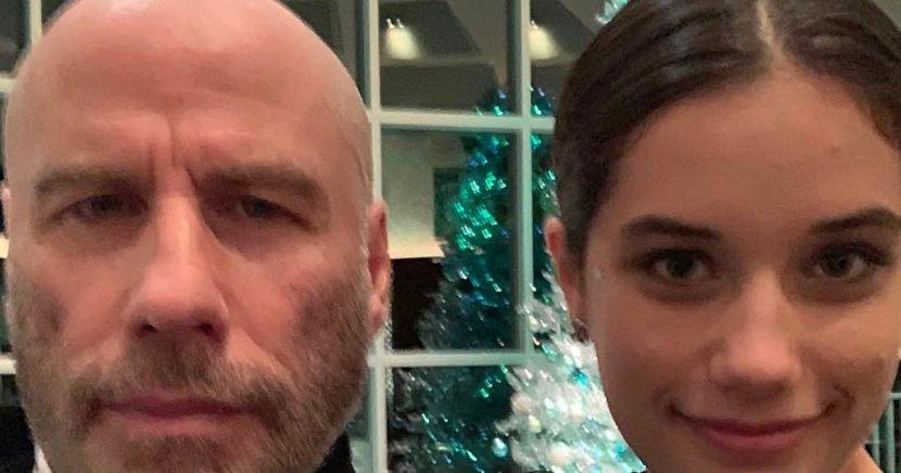 John Travolta shows off his bald head in selfie with daughter