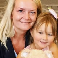 Little leukaemia fighter, 8, meets the stem cell donor who saved her life