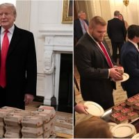 Donald Trump Welcomes the Clemson Tigers With a Buffet of Fast Food at the White House