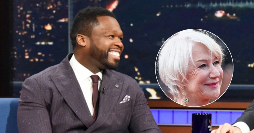 50 Cent's Comeback Is Priceless When Stephen Colbert Brags About Kissing 'Sexy' Helen Mirren