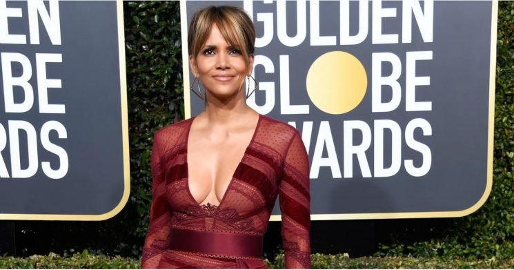 Halle Berry's Sexy Golden Globes Dress Has So Many Sheer Panels, We've Lost Count