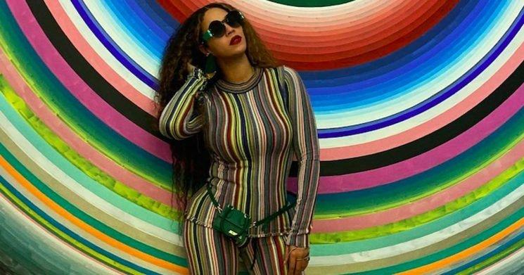 Beyoncé's Striped Set Would Make Her Blend Into the Backdrop — If She Weren't Beyoncé