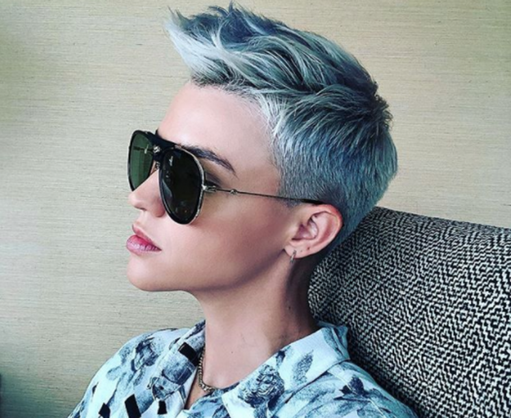 Ruby Rose Just Dyed Her Hair Blue, Proving The Shade Is This Year's Rose Gold
