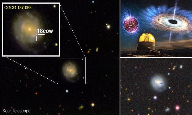 Birth of a black hole or neutron star is captured for the first time
