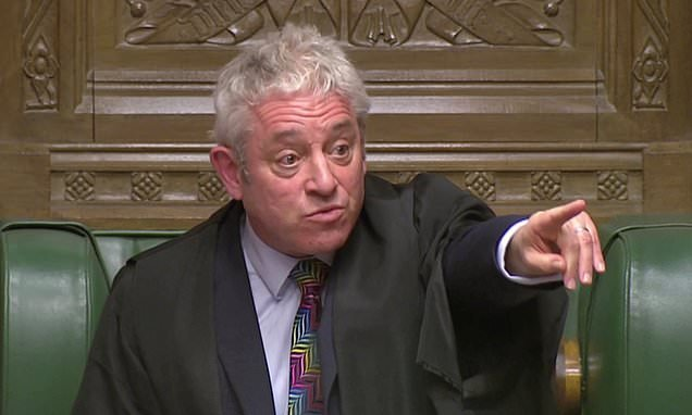 Speaker Bercow hints he could help MPs seize control of Brexit