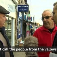 Hilarious moment two Welsh men get into a heated row over Brexit