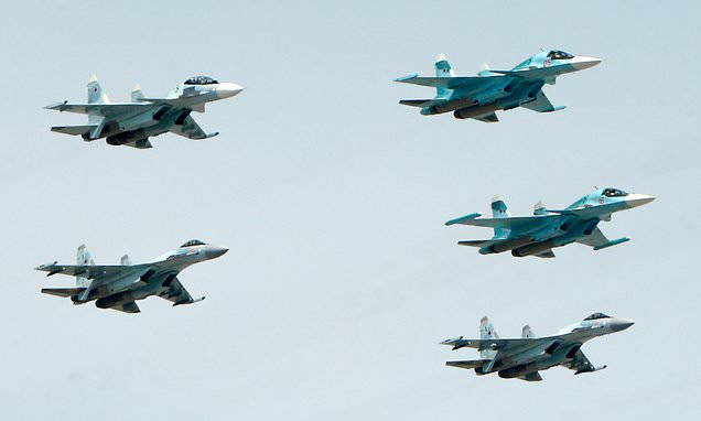 Two Russian Su-34 fighter-bomber jets crash mid-air over Sea of Japan
