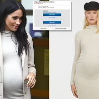 Meghan Markle's sold out £25 H&M maternity dress is on eBay for £150