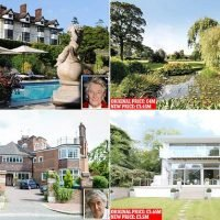 Celebrities forced to slash millions off price of luxury mansions