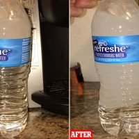 'Supercooled' bottles of water turn rock hard when banged on table