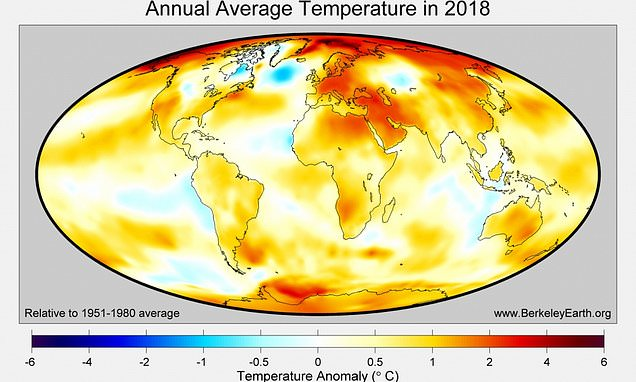 High heat but no record: 2018 was 4th warmest year on Earth