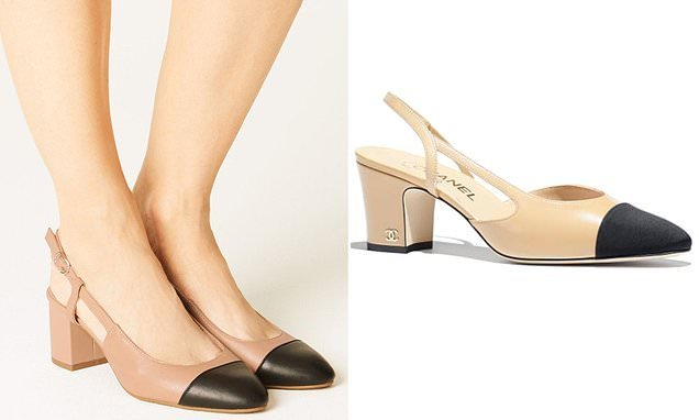 M&S nude slingback shoes look just like Chanel