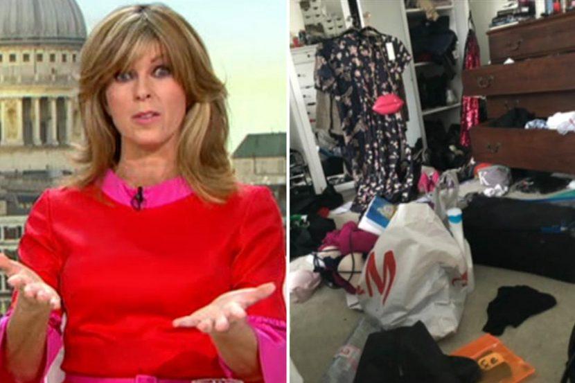 Kate Garraway reveals her VERY messy bedroom on Good Morning Britain as Ben Shephard calls her 'filth'