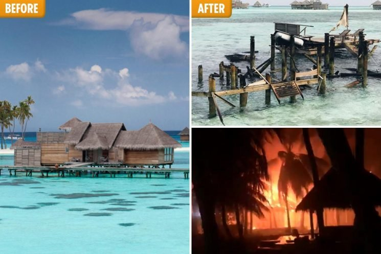 Huge fire rips through luxury Maldives resort that was voted number one in the country on TripAdvisor