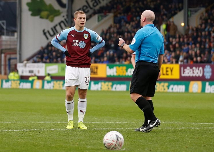 Burnley have penalty cancelled by VAR on Turf Moor debut mid spot-kick