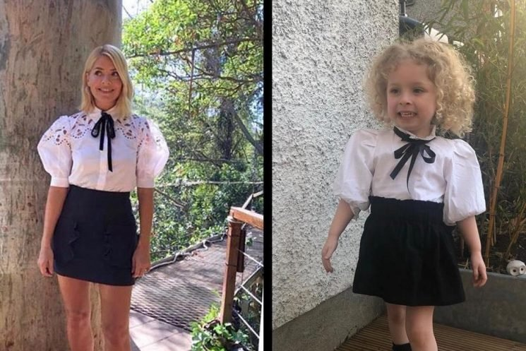 Three-year-old fashionista Hollie Lawlor racks up thousands of likes on Instagram as she twins her latest looks with style queen Holly Willoughby