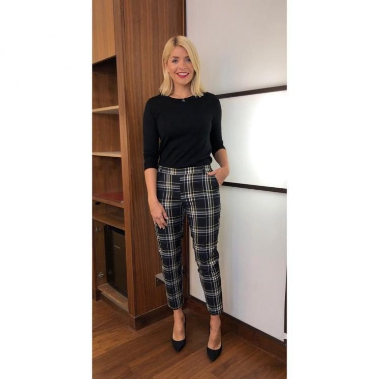 This Morning fans LOVE Holly Willoughby's £18 tartan H&M trousers