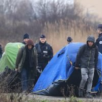 French police tear down Calais camp as Home Office plans to deport people who illegally crossed the Channel