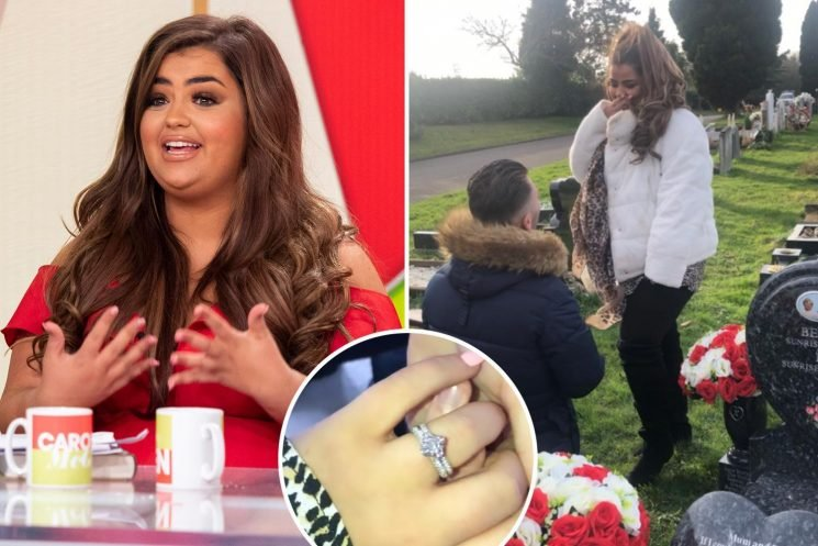 X Factor star Scarlett Lee engaged after boyfriend proposes in a graveyard