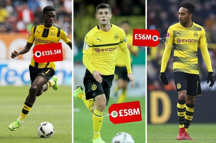 Dortmund make eye-watering £424.1m from sales in last three years after Pulisic deal… and are still top of Bundesliga