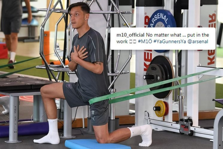 Mesut Ozil vows to be ready for Arsenal 'no matter what' in defiant message to Unai Emery