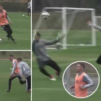 Newcastle transfer target Almiron dribble past four players and chip keeper in amazing training ground skill