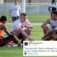 Rashford pokes fun at Solskjaer with Man Utd training pic tweet